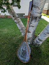 Superior Boat Custom Handmade Wood Landing Net - Dead Drift Net Co. - Padauk, Zebrawood, & Walnut
