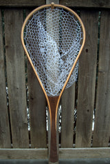 Superior Custom Handmade Wood Landing Net - Dead Drift Net Co. - Cherry & Walnut