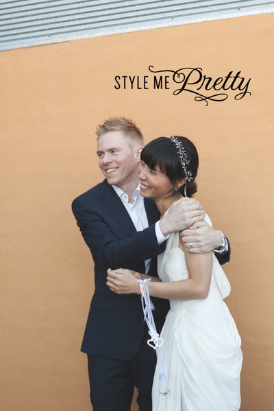 Real Bride Modern Wedding Inspiration- <br /><em>Style Me Pretty</em>