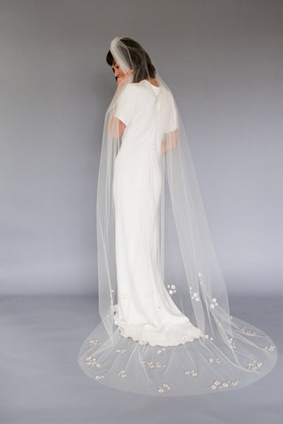 Chapel Length Bridal Veil Melinda Rose Design