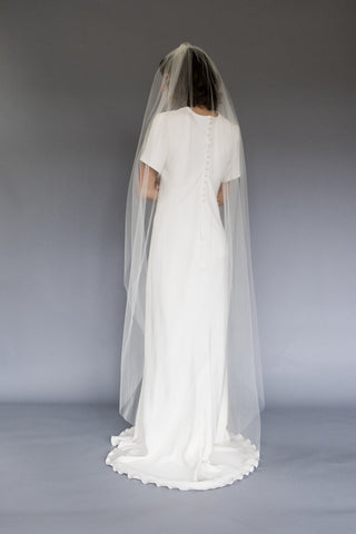 Floor Length Wedding Veil Melinda Rose Design