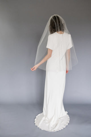 Melinda Rose Design Fingertip Length Wedding Veil