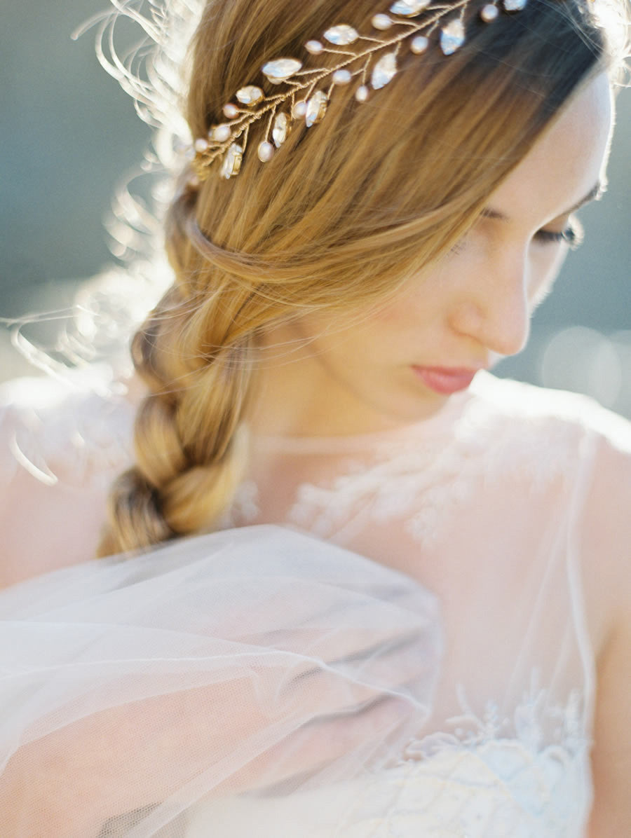 Melinda Rose Rhinestone and Blush Crown