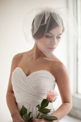 Long two layer blusher veil