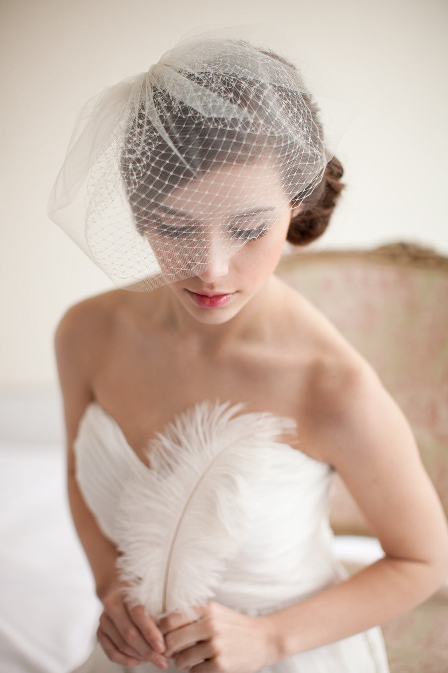 Double Layer Bridal Birdcage Veil
