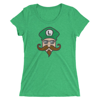 Mustachio Luigi Ladies' t-shirt