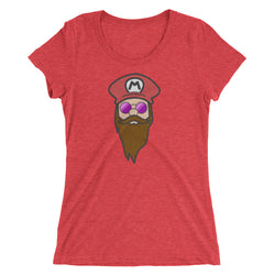 Bearded Mario Ladies' t-shirt