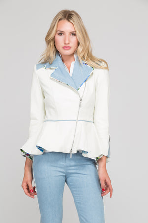 Bianca Peplum Leather Jacket