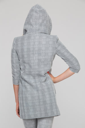 Zeta Plaid Suede Jacket
