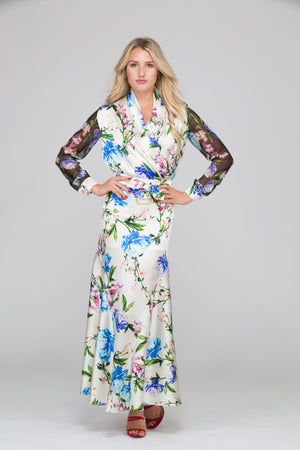 Fiora Floral Silk Blouse
