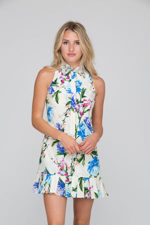 Siena Silk Cotton Floral Dress