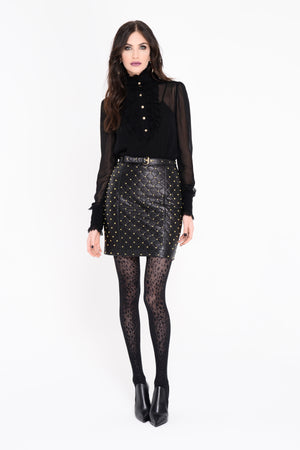 Stella Studded Leather Skirt