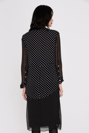 Chiara Polka Dot Silk Blouse