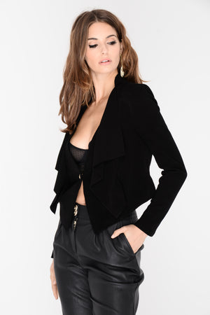 Sandra Cropped Suede Jacket