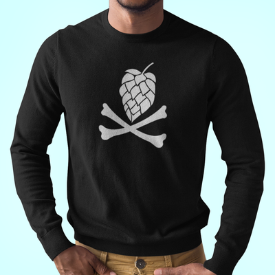 Hops and Crossbones Craft Beer Longsleeve T-Shirt