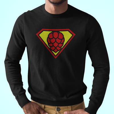 SuperHop Symbol Beer Brewing Longsleeve T-Shirt