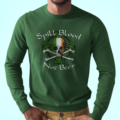 Spill Blood, Not Beer St. Patrick's Day Beer Longsleeve T-Shirt