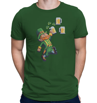 8-Bit Leprechaun St. Patrick's Day Beer T-Shirt