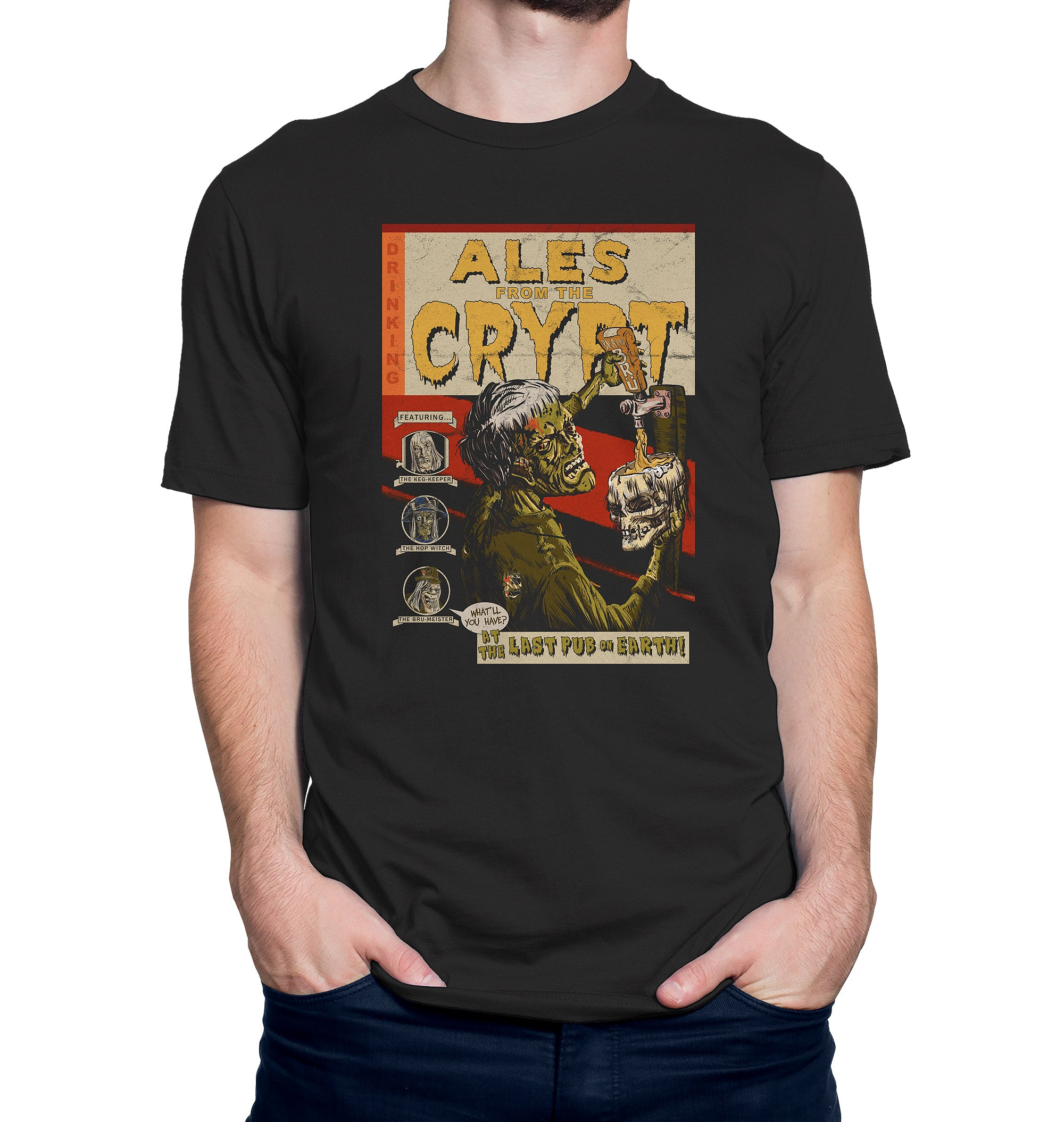 Ales from the Crypt Zombie Pub Crawl Beer T-Shirt
