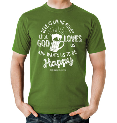 Beer is Living Proof Green T-Shirt