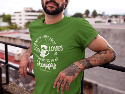 Beer is Living Proof T-Shirt on Model