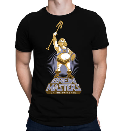 Brewmasters of the Universe T-Shirt on Black