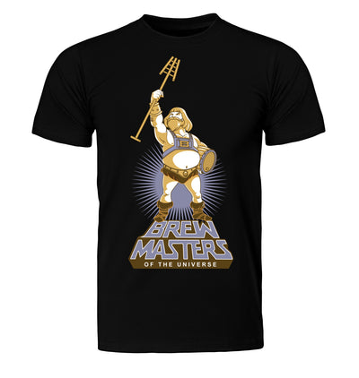 Black Brewmasters of the Universe Beer T-Shirt Flat