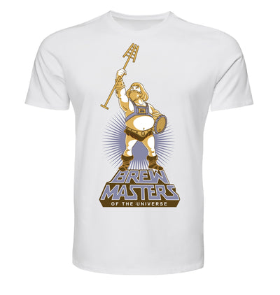 White Brewmasters of the Universe Beer T-Shirt Flat