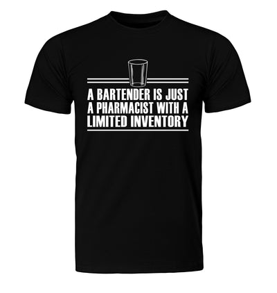 Bartender is Just a Pharmacist T-Shirt Flat Image