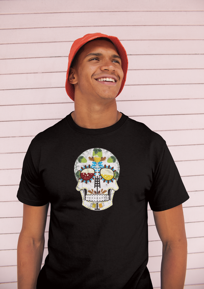 Brewers Sugar Skull T-Shirt Action Shot