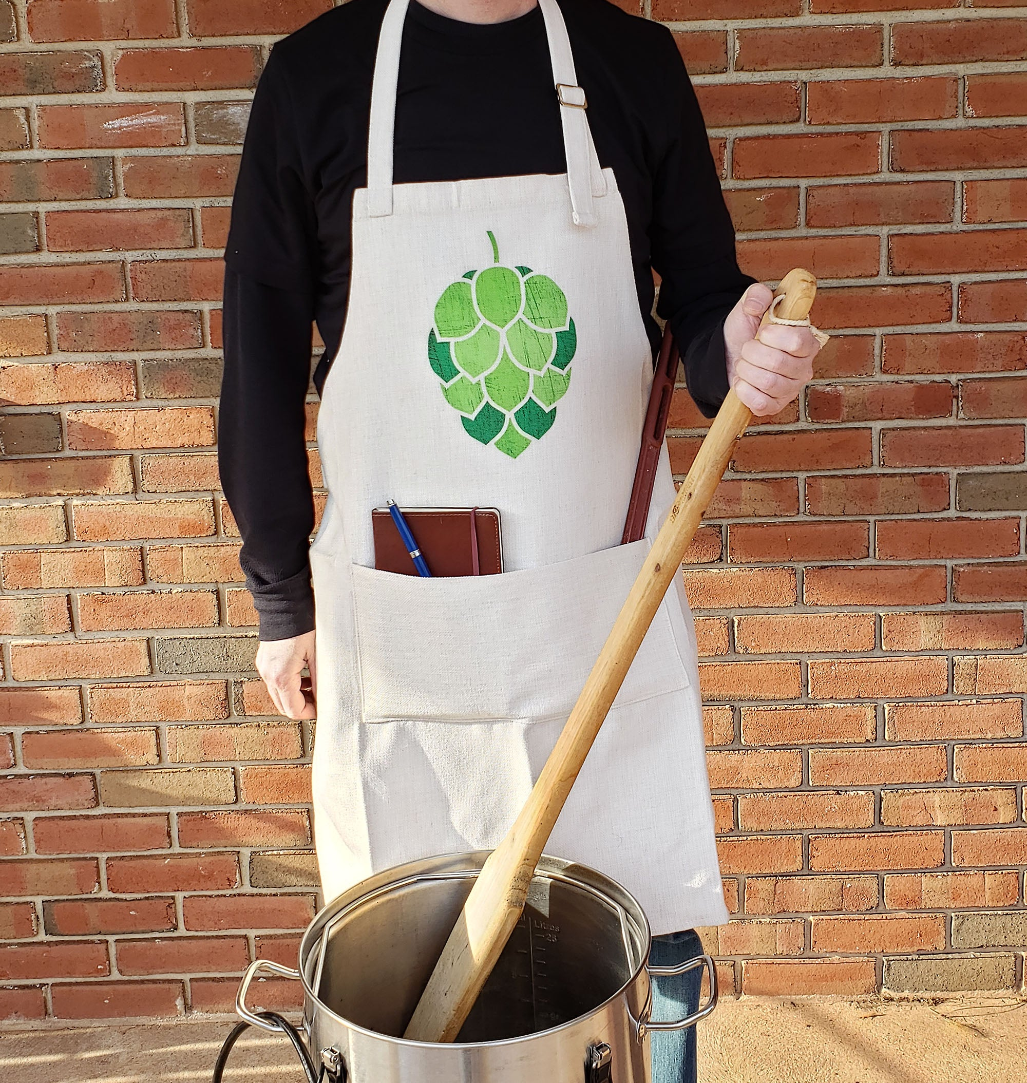 Stained Glass Hop Cone Brewing Apron
