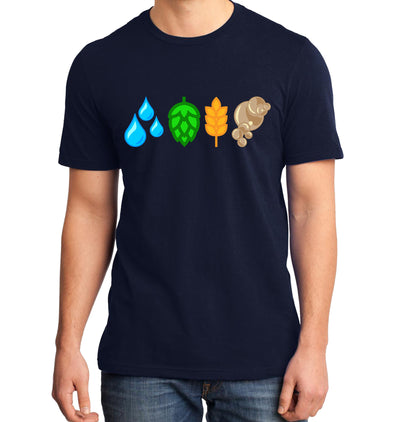 The Brewing Elements Craft Beer T-Shirt Navy