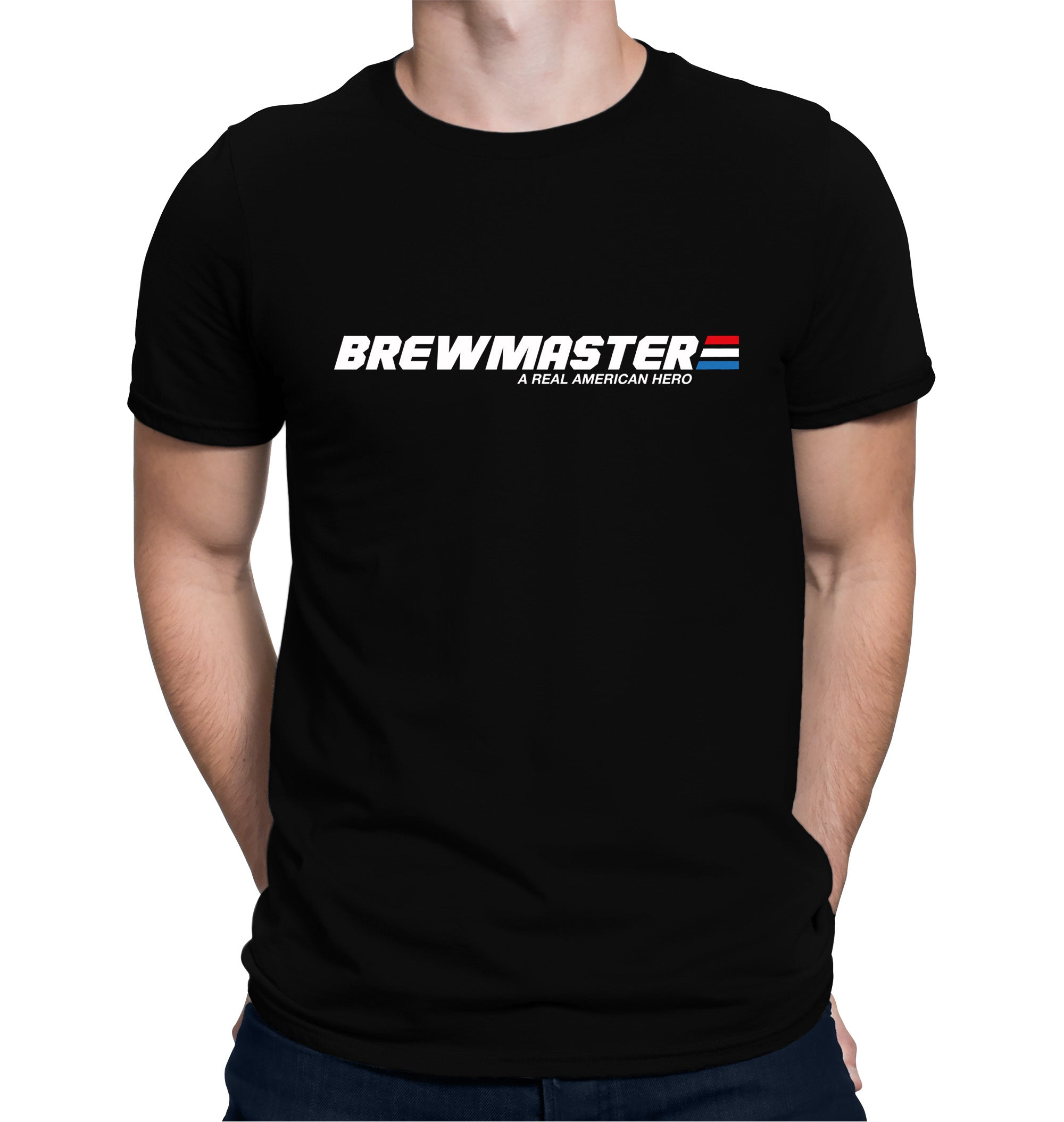 Brewmaster a Real American Hero T-Shirt on Model