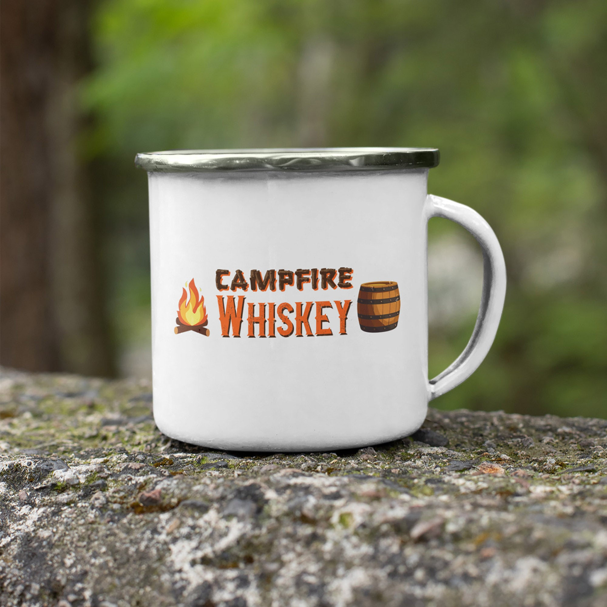 Campfire Whiskey 11oz Stainless Steel Camping Mug