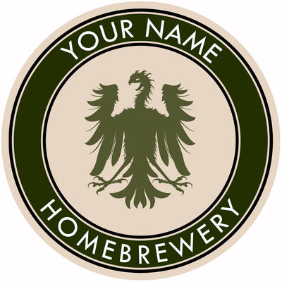 Your Name Here German Eagle Beer Coaster