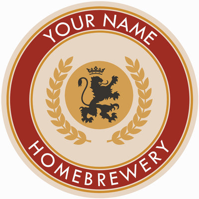 Your Name Here English Lion Beer Coaster