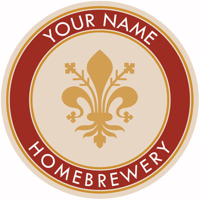 Your Name Here Fleur de lis Beer Coaster