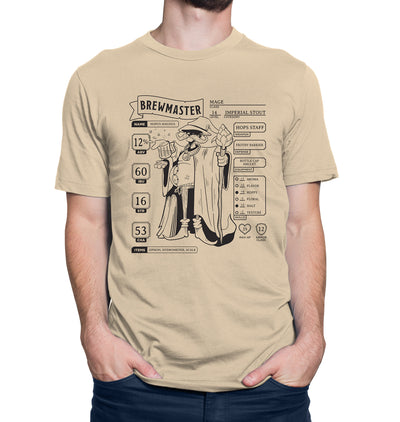 Brewmaster Character Sheet Homebrewing Beer T-Shirt Model Shot