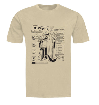 Brewmaster Character Sheet Homebrewing Beer T-Shirt Flat