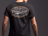 Drink Local Craft Beer T-Shirt Back on Model