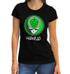 Women's Hop Head Bottle Cap T-Shirt on Female Model
