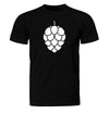Hop Cone Beer T-Shirt Flat Black