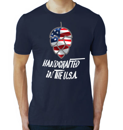 Handcrafted in the USA Craft Beer T-Shirt on Model