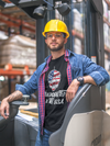 Handcrafted in the USA Beer T-Shirt Construction Worker