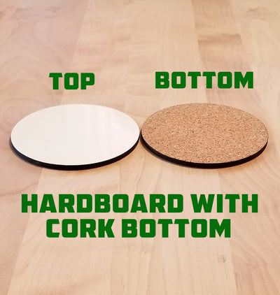 Blank Hardboard Coaster Sample