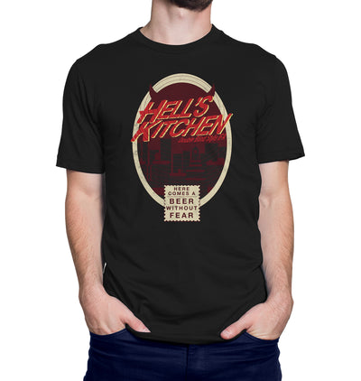 Hell's Kitchen Beer Without Fear T-Shirt on Model