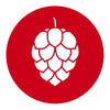 Hop Cone Beer Round Beer Coaster Red
