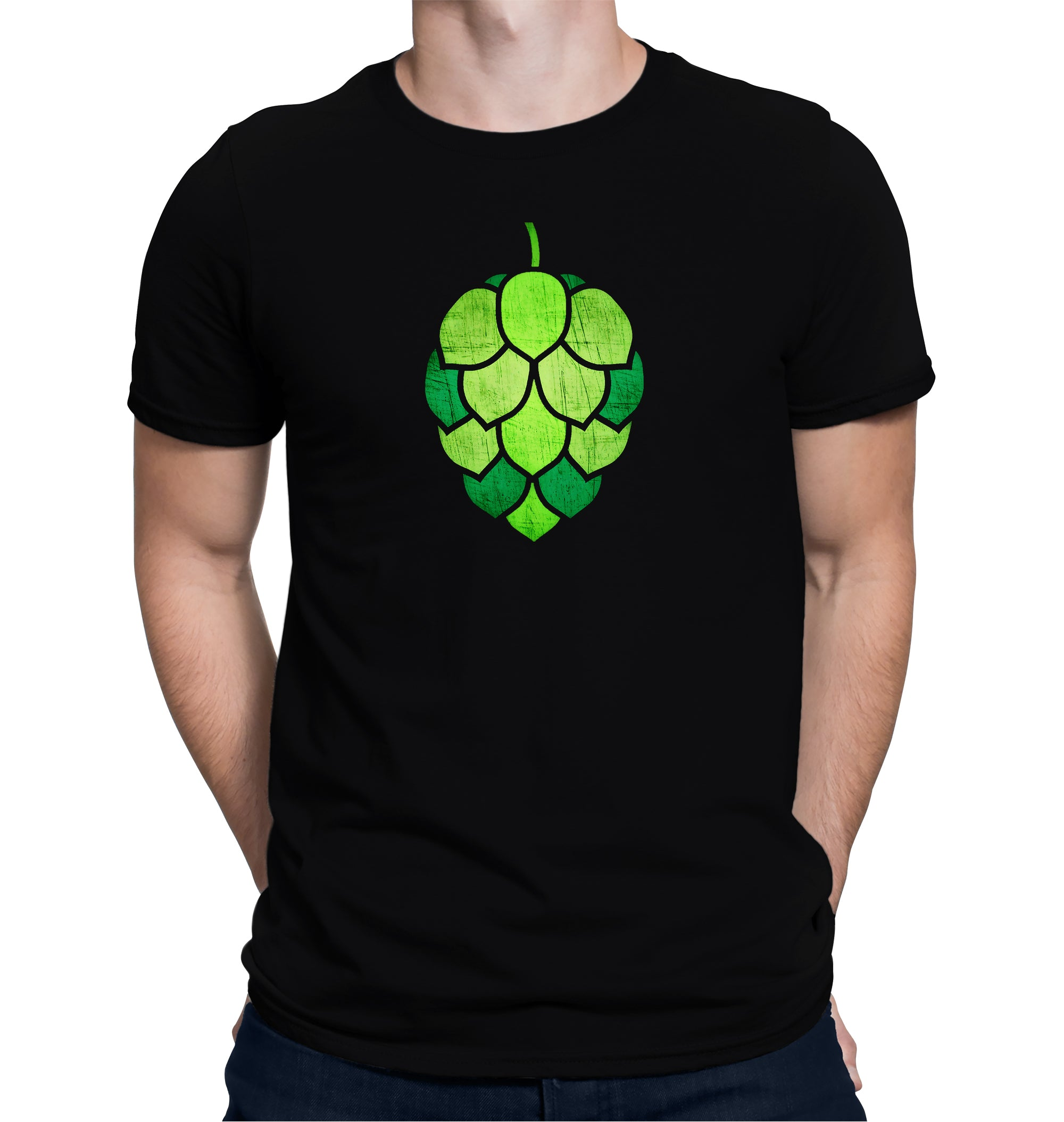 Stained Glass Hop Cone Craft Beer T-Shirt on Model