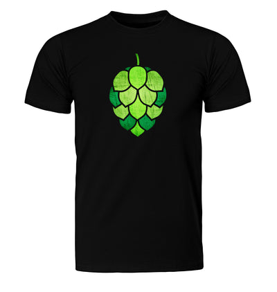 Stained Glass Hop Cone Craft Beer T-Shirt Flat