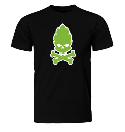 Hop Skull and Crossbones Craft Beer T-Shirt Flat